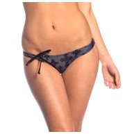 BOTTOM CROSSES BANDEAU BIKINI BOTTOM GREY