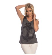 CAMISETA TIRANTE NATURE ANCHOR LACE SHOULDER HTR/GRY