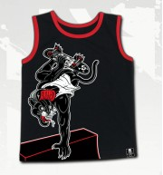 CAMISETA TIRANTE  BEAT PANTHER YOUTH TANK BLK-RED